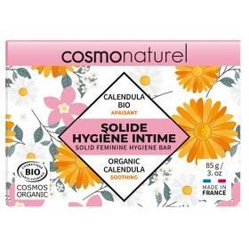 Solide hygiène intime apaisant Calendula et coco – 85 grs – Cosmo Naturel