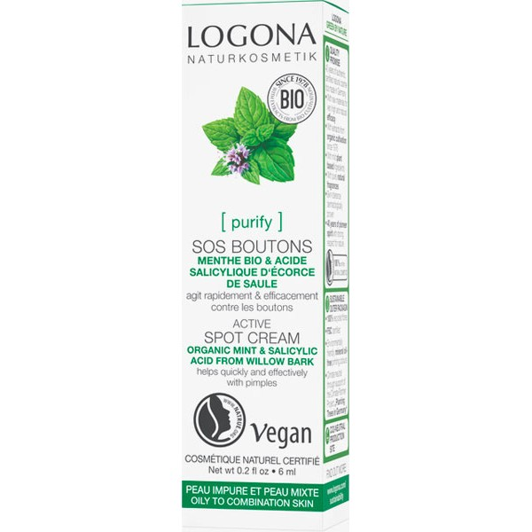 SOS boutons Menthe Bio et Acide salicylique -  6 ml – Logona