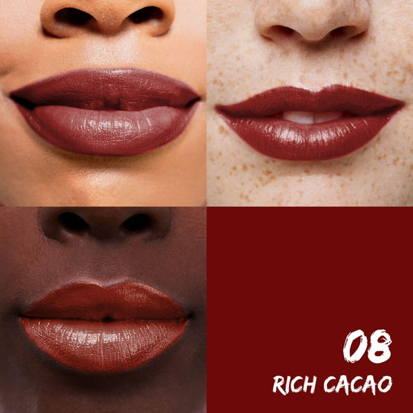 Exemple application pour le Rouge à lèvres hydratant 08 Rich Cacao - 4,5g - Maquillage Sante
