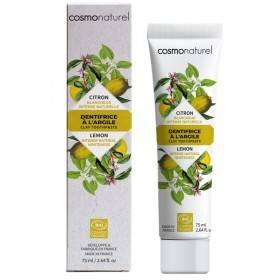 Dentifrice argile Citron bio blancheur intense naturelle – 75 ml – Cosmo Naturel