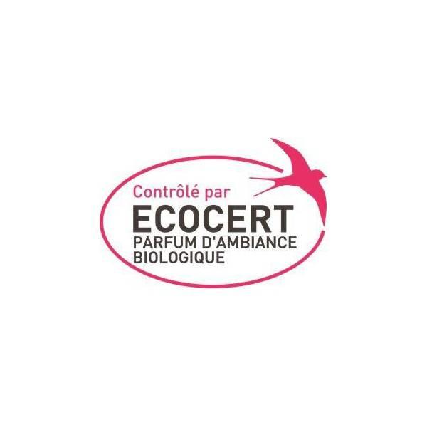 Logo Ecocert pour le désodorisant sanitaire Menthe-eucalyptus ultra concentré  - Vapo 250 ml – Lerutan