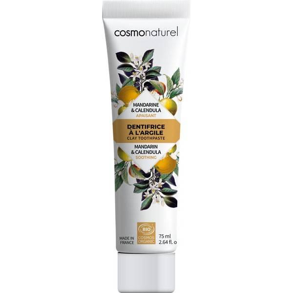 Dentifrice Apaisant Argile blanche, Mandarine et Calendula Bio – 75 ml – Cosmo Naturel - Vue 1