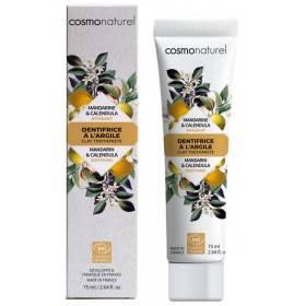 Dentifrice Apaisant Argile blanche, Mandarine et Calendula Bio – 75 ml – Cosmo Naturel