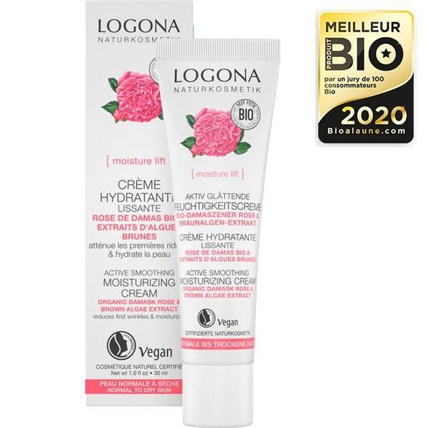 Crème hydratante et lissante rose de Damas bio et Kalpariane - 30 ml - Logona