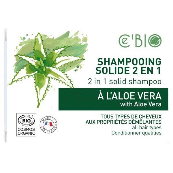 Shampooing solide 2 en 1 à l'Aloe Vera – 85 grs – Ce'Bio - vue de face