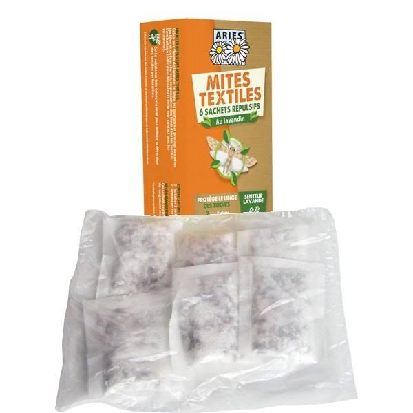 Détails sachets tiroir à la lavande bio pour mites textiles - Aries