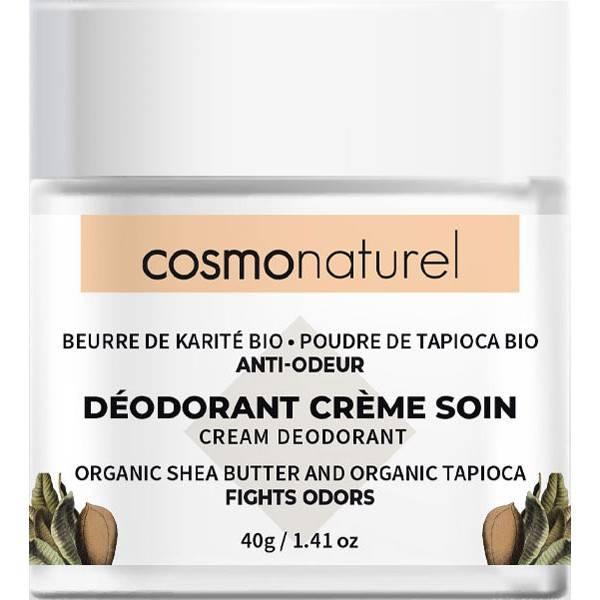 Déodorant crème de soin beurre de karité et poudre de tapioca – 40 grs – Cosmo Naturel - Vue de face