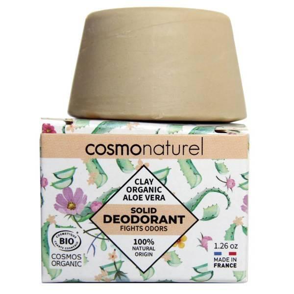 Déodorant solide Argile et Aloe Vera Bio – 36 grs – Cosmo Naturel