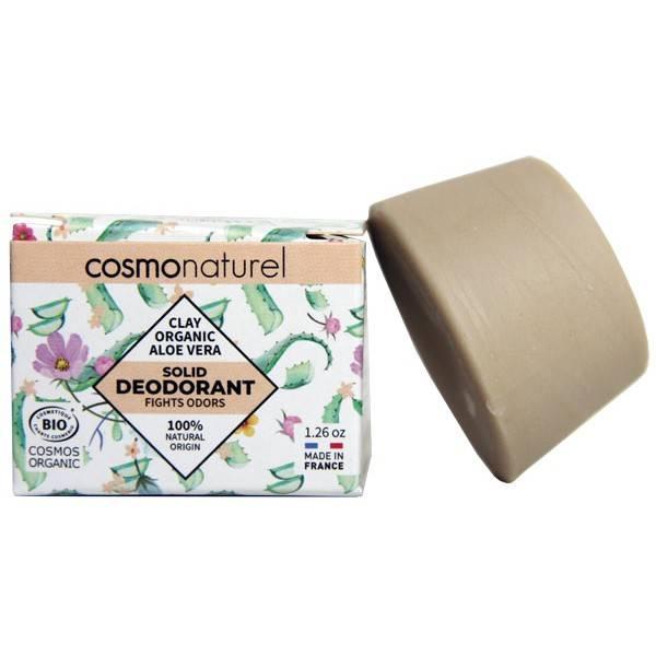 Déodorant solide Argile et Aloe Vera Bio – 36 grs – Cosmo Naturel - Vue 1