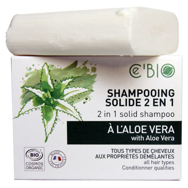 Shampooing solide 2 en 1 à l'Aloe Vera – 85 grs – Ce'Bio
