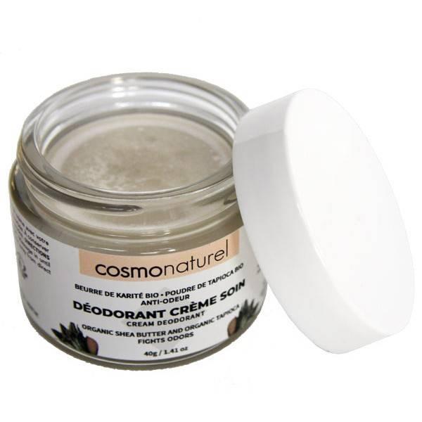 Déodorant crème de soin beurre de karité et poudre de tapioca – 40 grs – Cosmo Naturel