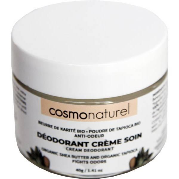 Déodorant crème de soin beurre de karité et poudre de tapioca – 40 grs – Cosmo Naturel - Vue 1