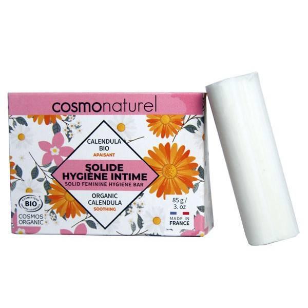 Solide hygiène intime apaisant Calendula et coco – 85 grs – Cosmo Naturel - Vue 1