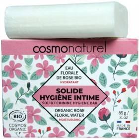 Solide hygiène intime hydratant Eau de rose bio – 85 grs – Cosmo Naturel