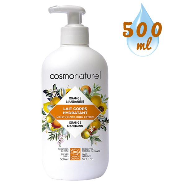 Lait corps hydratant Orange Mandarine – 500 ml – Cosmo Naturel
