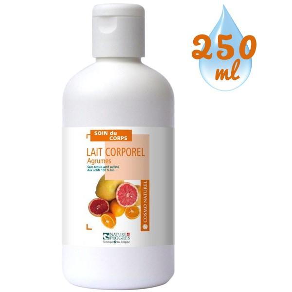 Lait corporel Agrumes tout types de peaux – 250 ml – Cosmo Naturel