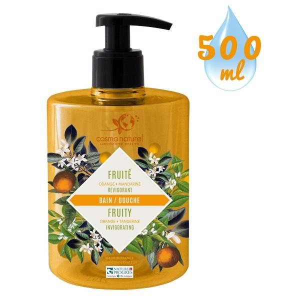 Gel bain & douche Fruité Mandarine Orange – 500 ml – Cosmo Naturel