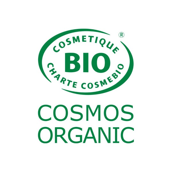 Logo Cosmos Organic pour le shampooing Anti-pelliculaire Cade Sauge Rhassoul – 500ml – Cosmo Naturel