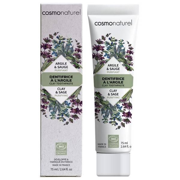 Dentifrice argile Sauge bio Purifiant  – 75 ml – Cosmo Naturel