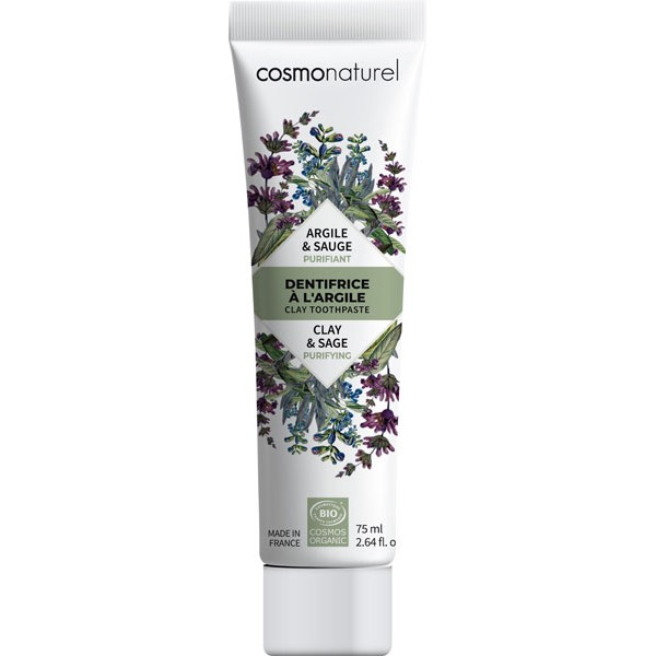 Dentifrice argile Sauge bio Purifiant  – 75 ml – Cosmo Naturel - vue 1