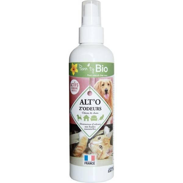 ALT'O Z'ODEURS - Destructeur d'odeurs naturel pour chat et chien - 250 ml- Penntybio