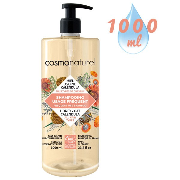 Shampooing Usage Fréquent Miel Calendula Avoine – 1000 ml – Cosmo Naturel