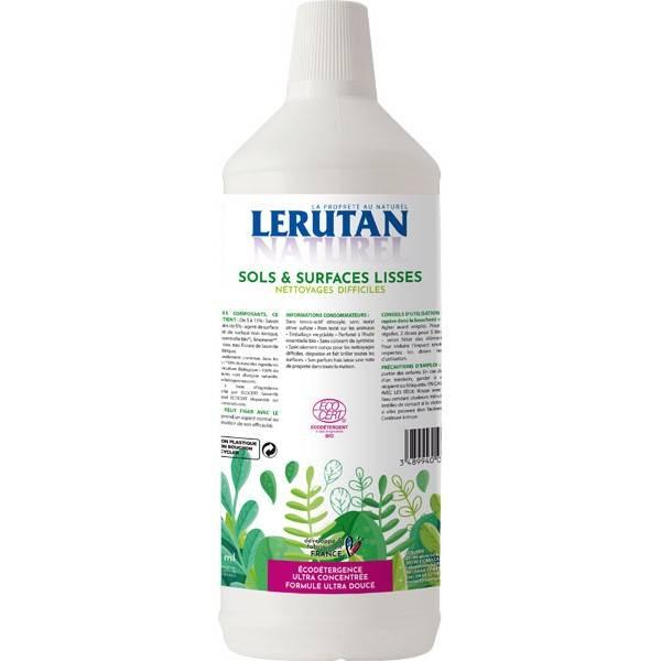 Sols et surfaces lisses - Nettoyages difficiles - 1 litre – Lerutan