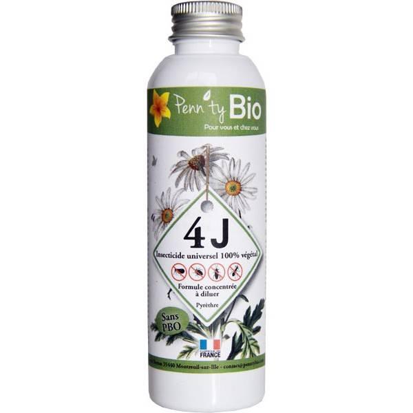 Insecticide 4J concentré au pyrèthre végétal - 125 ml - Penntybio