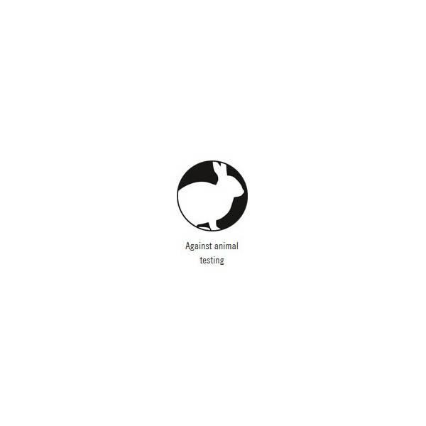 Logo Against animal testing pour la crème à raser Logona