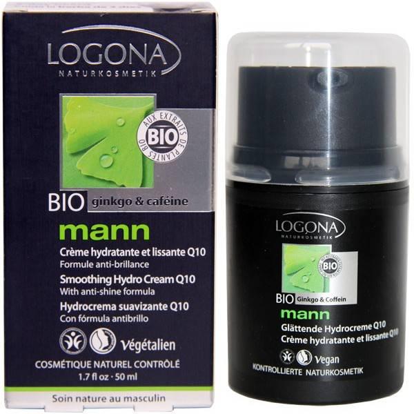 Pack Homme - Crème hydratante et lissante Q10 Ginkgo et Caféine - 50 ml - Logona Mann
