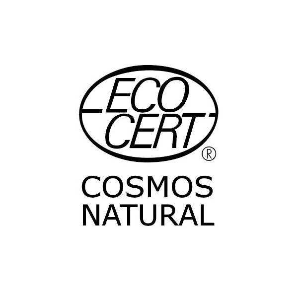 Logo Ecocert Cosmos Natural pour le cube de Savon de Marseille Olive 72% - La Corvette