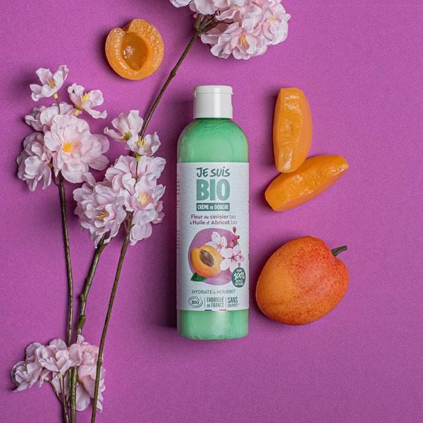 Crème de douche Fleur de Cerisier bio et Abricot bio - 250 ml - Je suis Bio - Vue 1