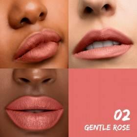 Rendu couleur pour le rouge à lèvres mat 02 Gentle Rose Santé