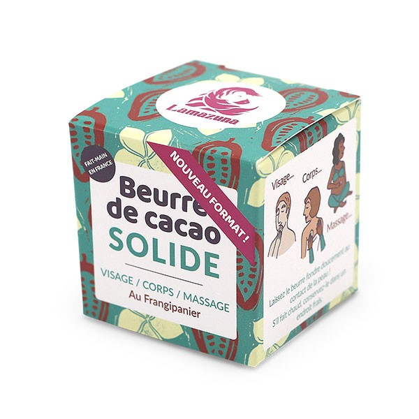 Beurre de cacao solide - Frangipanier - 54 ml - Lamazuna - Vue 1