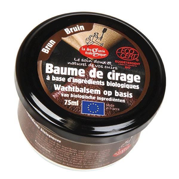 Baume de cirage brun – 75 ml – La Droguerie Écologique