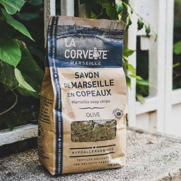Copeaux de Savon de Marseille Olive - 750 grs - La Corvette - Vue 1