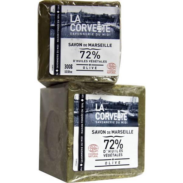 Cube de Savon de Marseille Olive 72% - La Corvette