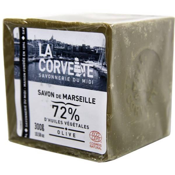 Cube de Savon de Marseille Olive 72% 300 grammes - La Corvette