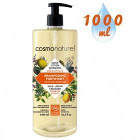 Shampooing Fortifiant Quinquina Sauge Citron – 1000 ml – Cosmo Naturel