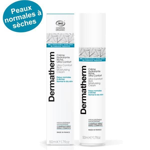 Crème hydratante riche ultra confort – 50 ml - Dermatherm