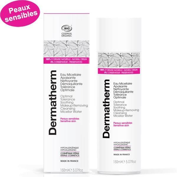 Eau micellaire apaisante nettoyant démaquillante Tolérance optimale – 150 ml - Dermatherm