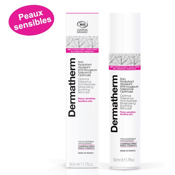 Soin hydratant apaisant anti-rougeurs Tolérance optimale – 50 ml - Dermatherm