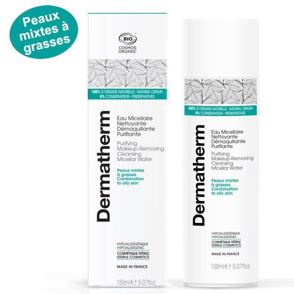 Eau micellaire nettoyante démaquillante purifiante – 150 ml - Dermatherm