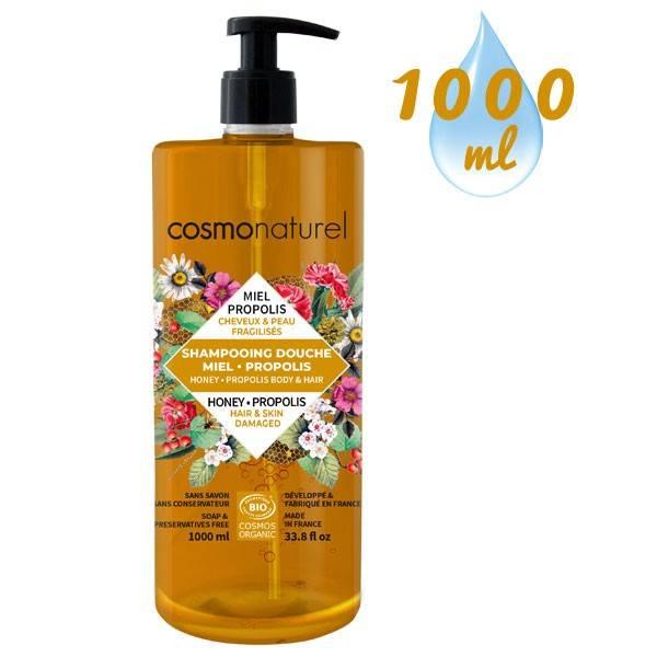 Shampooing douche Miel Propolis – 1000 ml – Cosmo Naturel