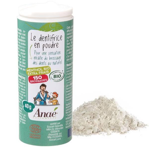 Dentifrice en poudre au menthol - 40 grs - Anaé