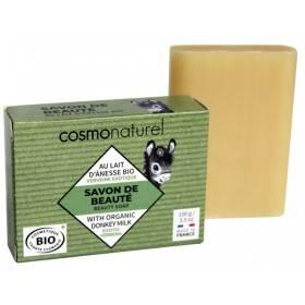 Savon Bio de beauté au lait d'Ânesse parfumé à huile essentielle de Verveine – 100 gr – Cosmo Naturel