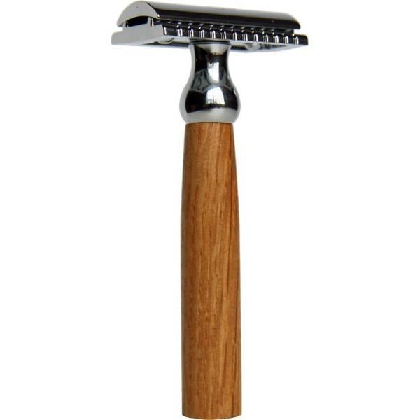 Rasoir de sûreté manche en chêne pour lame plate rechargeable - Caliquo
