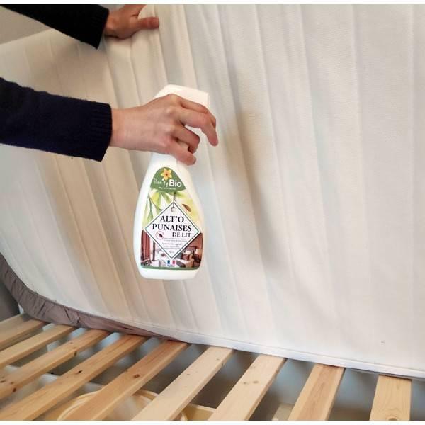 Application d'ALT'O'PUNAISES de lit – insecticide – spray 750 ml – Penntybio