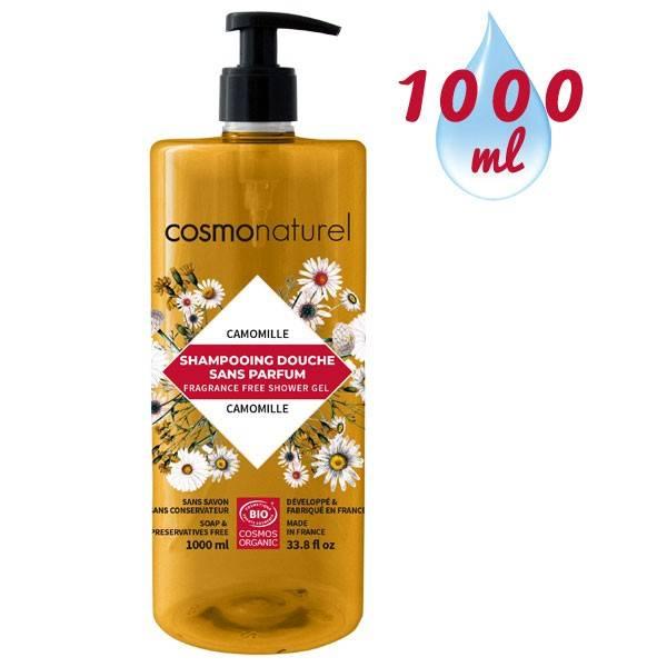 Shampooing douche sans parfum à l'extrait de camomille – 1000 ml – Cosmo Naturel