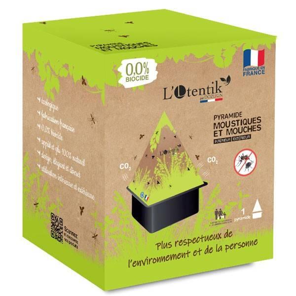 Emballage pyramide piège à moustiques et mouches - 0% biocide - L'Otentik